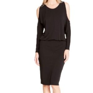 DKNY Cold Shoulder Blouson Dress